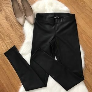 EXPRESS Leather Black Leggings